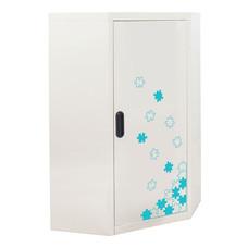KIOSK ตู้วางหนังสือขนาดกลางแบบเข้ามุม (6 เหลี่ยม) รุ่น Maxbook Half Height 1 Steel Door Corner Cabinet พร้อมชั้นวาง 2 ชั้น (ปรับระดับได้) - ลาย Jigsaw