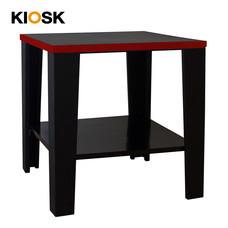 KIOSK โต๊ะเสริม รุ่น Konner - สีดำ/แดง
