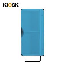 KIOSK ตู้แขวนบานเปิดสูง รุ่น Punto - สีดำ/ฟ้า