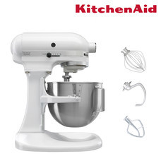 KitchenAid เครื่องผสมอาหารแบบยกโถ 5 ควอทซ์ 315 วัตต์ รุ่น 5K5SSWH Free KE176OSERA