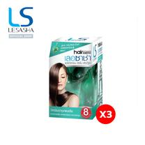 [Pack 3] - LESASHA เซรั่มบำรุงเส้นผมเลอซาช่า สูตร กรีนทรี&มิ้นท์ 8 เม็ด (Buy2Get1) LS1057