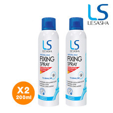 [ Pack 2 ] - LESASHA สเปรย์ จัดแต่งทรงผม หลังจัดแต่งทรงผม ขนาด 200 ml. (Natural Hold Fixing Spray) รุ่น LS0854