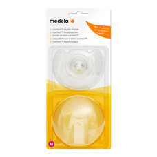medela Contact Nipple Shield แผ่นซิลิโคนป้องกันหัวนมมารดา (Size M)