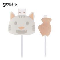 ตัวถนอมสายชาร์จ Golette Wire Protector for iPhone รุ่น Cat - White