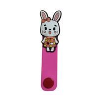 ที่รัดสายชาร์จ/หูฟัง iPowerGo - กระต่ายชมพูเข้ม