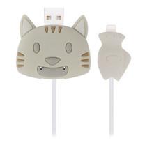 ตัวถนอมสายชาร์จ Golette Wire Protector for iPhone รุ่น Cat - Grey