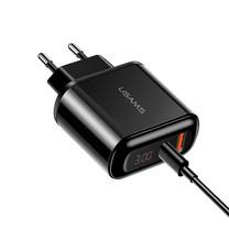USAMS อุปกรณ์ชาร์จไอโฟน11/ อแดปเตอร์ชาร์จไฟ QC3.0/ PD3.0 +สายชาร์จType-C to Lightning