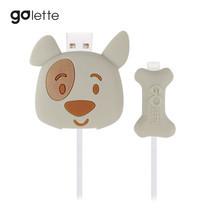 ตัวถนอมสายชาร์จ Golette Wire Protector for iPhone รุ่น Puppy - Grey