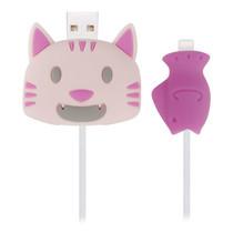 ตัวถนอมสายชาร์จ Golette Wire Protector for iPhone รุ่น Cat - Pink