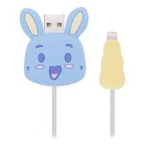 ตัวถนอมสายชาร์จ Golette Wire Protector for iPhone รุ่น Rabbit - Blue