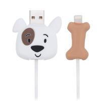 ตัวถนอมสายชาร์จ Golette Wire Protector for iPhone รุ่น Puppy - White
