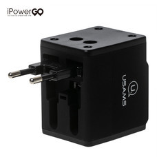 USAMS Universal Adapter USB Charger - Black