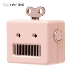 Solove ลำโพงบลูทูธพกพา รุ่น Robot - Pink