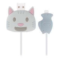 ตัวถนอมสายชาร์จ Golette Wire Protector for iPhone รุ่น Cat - Blue