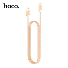สายชาร์จ Hoco MFI Metal Lightning Cable 1.2M. - Gold