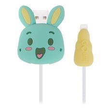 ตัวถนอมสายชาร์จ Golette Wire Protector for iPhone รุ่น Rabbit - Green