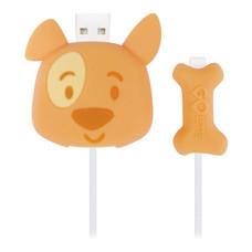 ตัวถนอมสายชาร์จ Golette Wire Protector for iPhone รุ่น Puppy - Orange