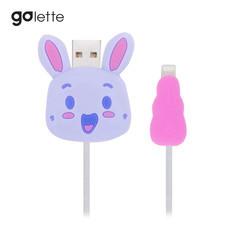 ตัวถนอมสายชาร์จ Golette Wire Protector for iPhone รุ่น Rabbit - Purple