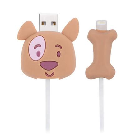 ตัวถนอมสายชาร์จ Golette Wire Protector for iPhone รุ่น Puppy - Brown