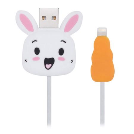 ตัวถนอมสายชาร์จ Golette Wire Protector for iPhone รุ่น Rabbit - White