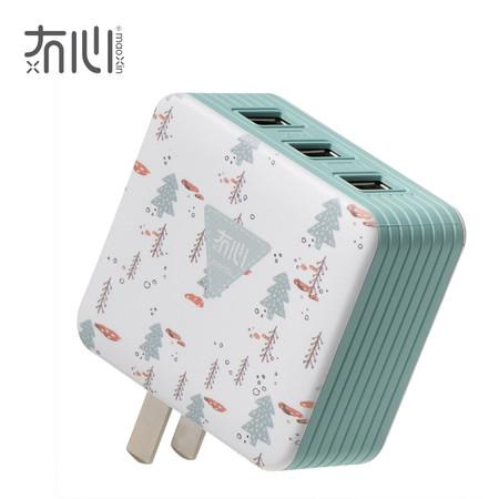 Maoxin หัวชาร์จ 3 USB - Forest