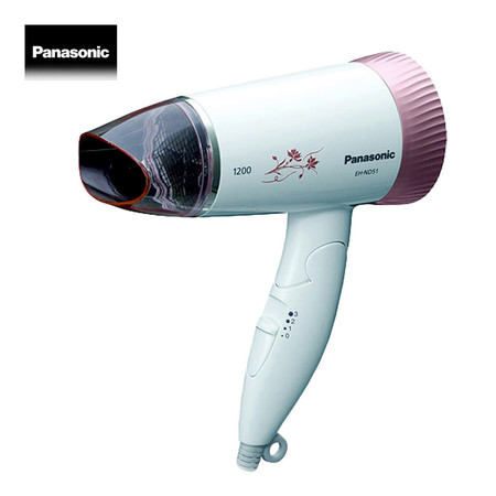 Panasonic ไดร์เป่าผมไฟฟ้า กำลังไฟสูงสุด 1,200 วัตต์ รุ่น EH-ND51 (Pink)