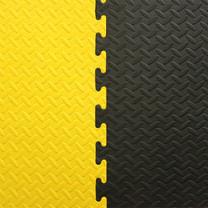 Power Reform EVA Mat แผ่นยางกันกระแทก /แผ่นยางปูพื้น /โฟมกันกระแทก /จิ๊กซอว์ปูพื้น 25 mm - สีดำ/เหลือง