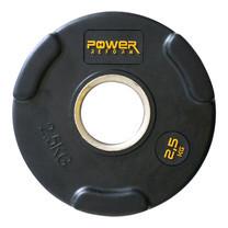 Power Reform แผ่นน้ำหนักหุ้มยาง 2 นิ้ว 2.5 kg - Black