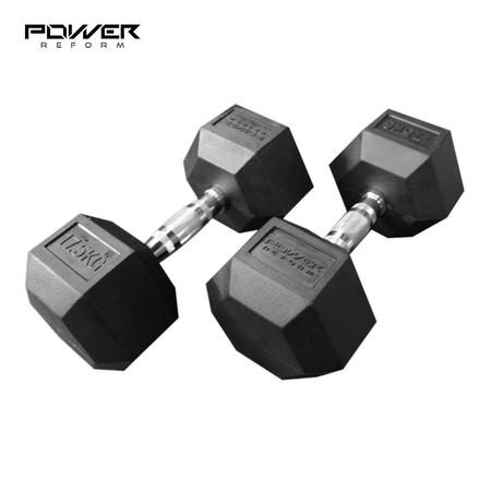 Power Reform ดัมเบลยกน้ำหนัก รุ่น Fix แบบเหลี่ยม 17.5 kg คู่ (2 ข้าง)