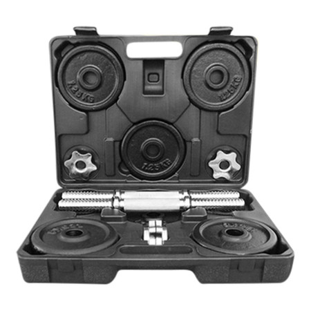 Power Reform ดัมเบลกล่อง Black Plate 15 kg (ฟรี! แกนต่อ 60 cm)
