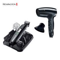 Remington Easy Set PG-6130 เครื่องตกแต่งหนวดเครา + ไดร์เป๋าผม D-5000
