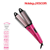 Nobby by TESCOM Negative Ions 2ways Brush Hair Iron 2 in 1 Hair Styler รุ่น NTIR1832