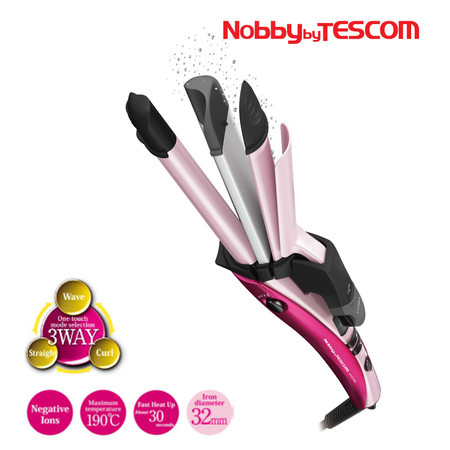 Nobby by TESCOM Ionic 3 Ways Hair Iron 3 in 1 Hair Styler รุ่น NTIR1650