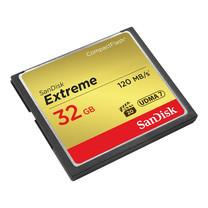 SanDisk Extreme CF Card VPG20, UDMA 7 Read Speed 120MB/s Write Speed 85MB/s (32GB)
