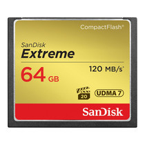 SanDisk Extreme CF Card VPG20, UDMA 7 Read Speed 120MB/s Write Speed 85MB/s (64GB)