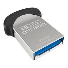 SanDisk Ultra Fit USB 3.0 Flash Drive (32GB) - Black with cap