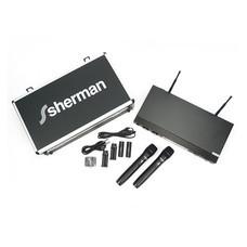 Sherman ชุดไมโครโฟนไร้สาย Wireless รุ่น MIC-320 (Black)