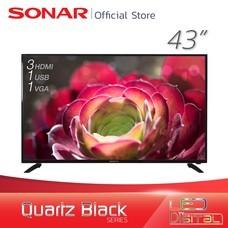 SONAR LED TV 43 นิ้ว ดิจิตอลทีวี ทีวี โทรทัศน์ DIGITAL TV ดิจิตอลทีวี Quartz Black รุ่น LD-61T02(MP1)