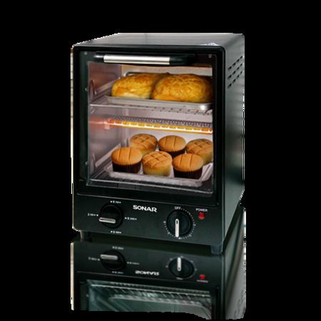 SONAR เตาอบ เตาอบไฟฟ้า ตู้อบ ตู้อบไฟฟ้า เตาอบ2ชั้น เตาอบขนมปัง ขนาด 15 ลิตร รุ่น TO-030M