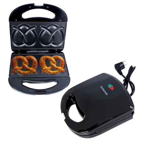 SONAR เครื่องทำขนมเพรทเซล เครื่องทำขนม อุปกรณ์ทำขนม เครื่องทำอาหารเช้า รุ่น SM-P022 สีดำ