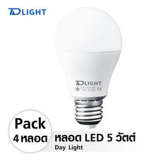 TDLIGHT LED BULB Giant 5W 6500K PACK 4 หลอด