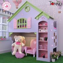 TOMATO KidZ เตียงบ้านตุ๊กตา 2 ชั้น Olivia + ฟูกที่นอน - Lilac /Green