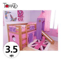 TOMATO KidZ เตียงนอน Slider Emily 3.5 ฟุต (ม่านชมพู/ม่วง)