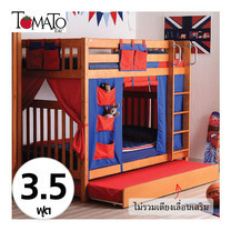 TOMATO KidZ เตียง 2 ชั้น Youth bunk 3.5 ฟุต+ ม่านตกแต่ง(แดง/น้ำเงิน)