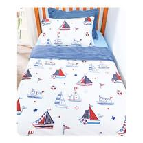 TOMATO KidZ ชุดผ้าปูที่นอน 3 ชิ้น สำหรับเตียง 3.5 ฟุต - Sailing Yacht
