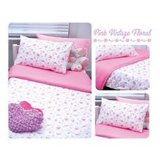 TOMATO KidZ ชุดผ้าปูที่นอน 3 ชิ้น สำหรับเตียง 3.5 ฟุต - Pink Foral