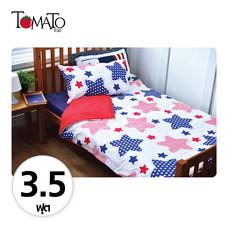 TOMATO KidZ ชุดผ้าปูที่นอน 3 ชิ้น สำหรับเตียง 3.5 ฟุต - Bright Star