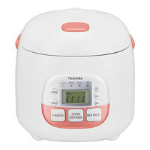 Toshiba หม้อหุงข้าวดิจิตอล ความจุ 0.54 ลิตร รุ่น RC-5MM(NP)A - White/Pink