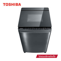 TOSHIBA เครื่องซักผ้าฝาบน ความจุ 16 กก. รุ่น AW-DUG1700WT(SS)