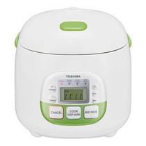 Toshiba หม้อหุงข้าวดิจิตอล ความจุ 0.54 ลิตร รุ่น RC-5MM(NG)A - White/Green